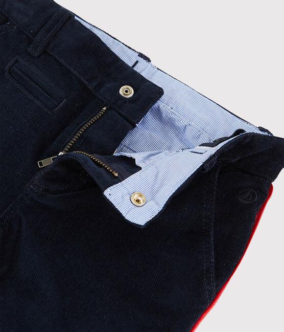 Boys' Velvet Trousers Smoking blue