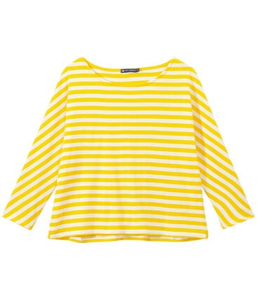 Women's striped long-sleeve tee