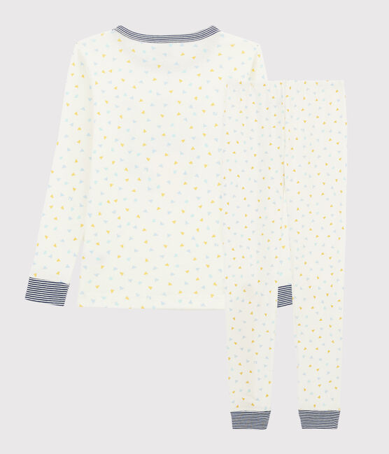 Children's Snugfit Tiger Motif Ribbed Pyjamas Marshmallow white / Multico white