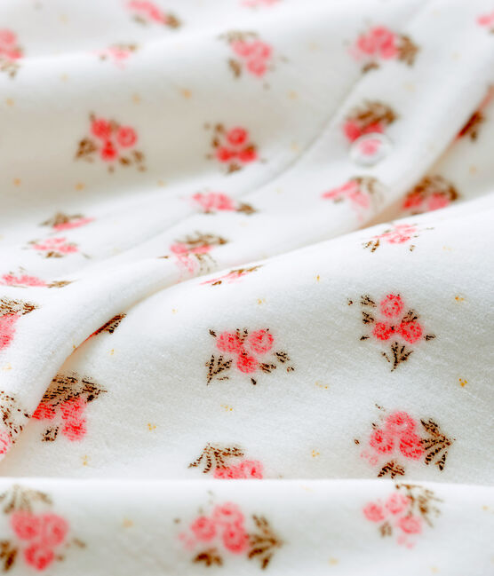 Baby Girls' Velour Bodyjama Marshmallow white / Multico white