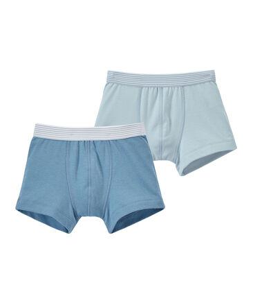 Set of 2 boy's plain boxers . set