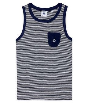 Boys' Vest Smoking blue / Marshmallow white