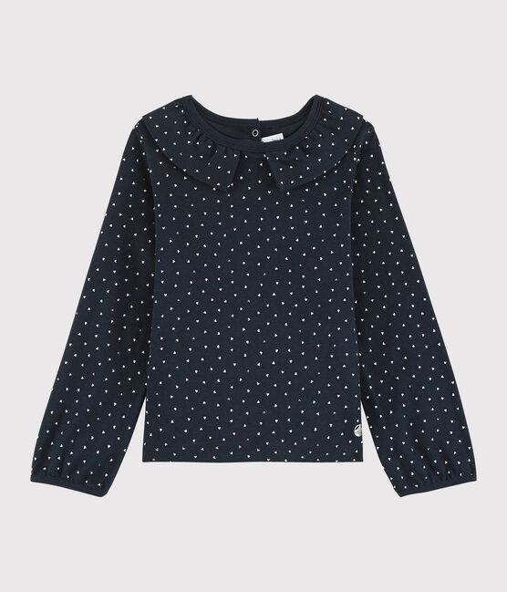Girls' Collared T-shirt Smoking blue / Multico white