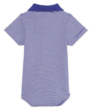 Baby boys' mc pinstriped bodysuit with polo shirt collar