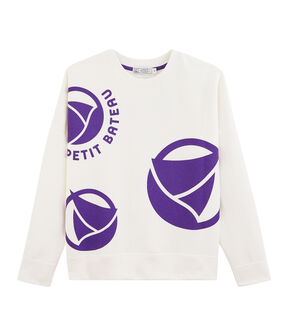 Women's Logo Sweatshirt Marshmallow white / Real purple