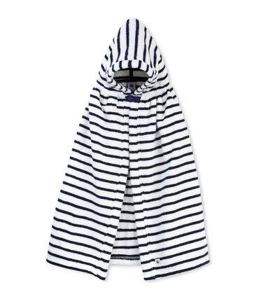 Baby's striped bath cape
