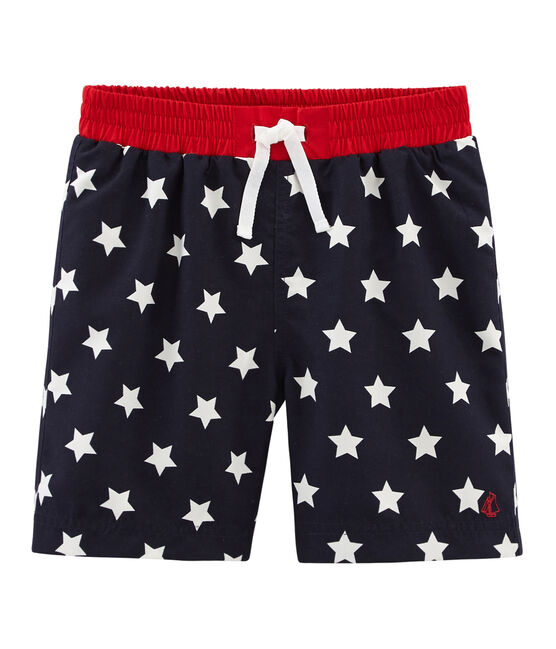 Boys' Beach Shorts Smoking blue / Marshmallow white