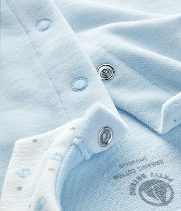 Baby Boys' Velour Sleepsuit Fraicheur blue