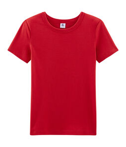 Women's Short-Sleeved Iconic T-Shirt Terkuit red