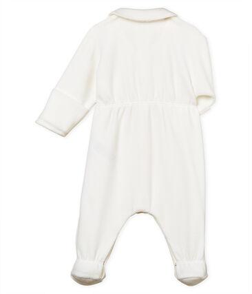 Unisex baby sleepsuit velour