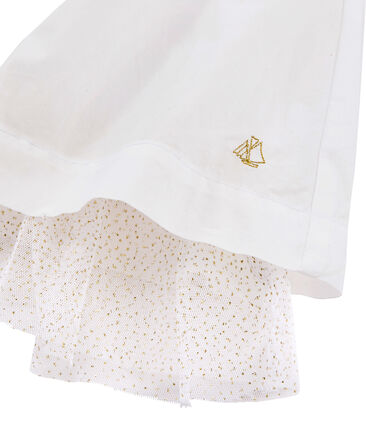 Girls' Dress Ecume white