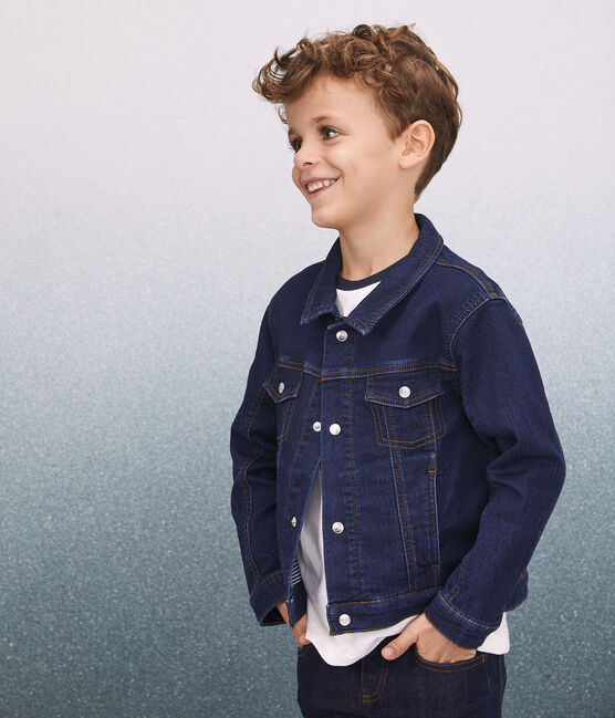 Boys' Denim Jacket Denim Bleu Fonce blue