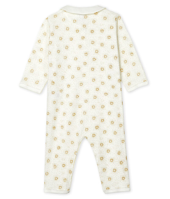 Babies' Footless Sleepsuit Marshmallow white / Or yellow