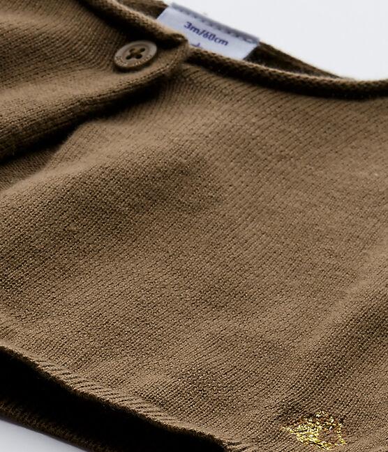 Baby girl's knit bolero Shitake brown