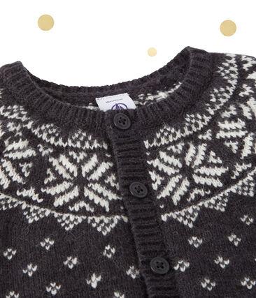 Baby boy's wool blend jacquard cardigan