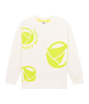 Girl - Boy's Sweatshirt Marshmallow white / Eblouis yellow