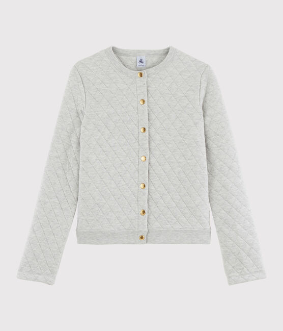 Women's tube knit cardigan Beluga grey
