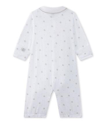 Baby's unisex 2-in-1 one-piece / sleep sack Ecume white / Shitake brown