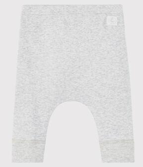 Babies' Organic Cotton 2x2 Rib Knit Leggings Beluga grey