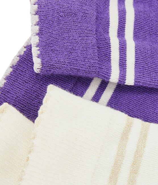 Set of 2 pairs of socks for girls . set