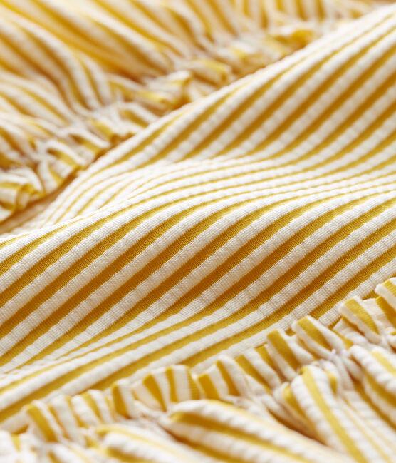 Baby girls' 1p striped swimsuit Bamboo yellow / Marshmallow white