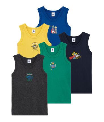 Set of 5 little boy's vest tops