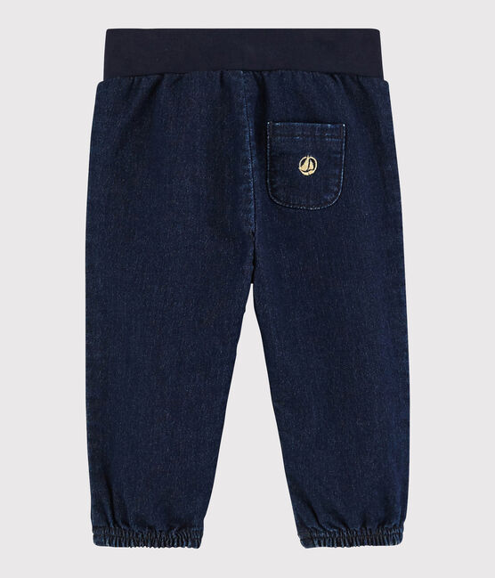 Baby girl's denim-look trousers. JEAN