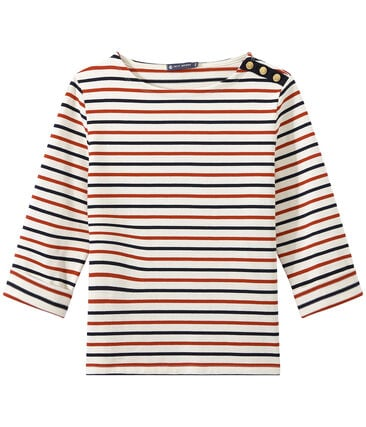 Women's heavy jersey tricolor sailor top