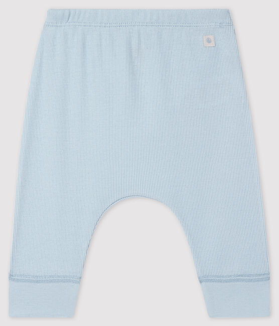 Babies' Organic Cotton 2x2 Rib Knit Leggings Fraicheur blue