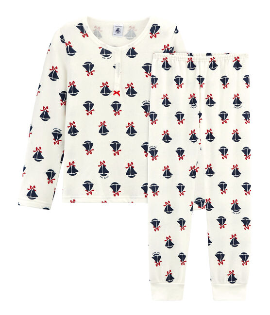 Girl's Sweatshirt Pyjamas Marshmallow white / Multico white