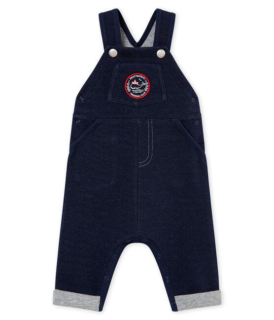 Baby boy's jersey dungarees Smoking blue