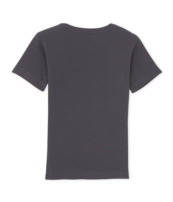 Boy's patterned V-neck tee Maki grey