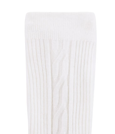 Girls' Warm Tights Marshmallow white