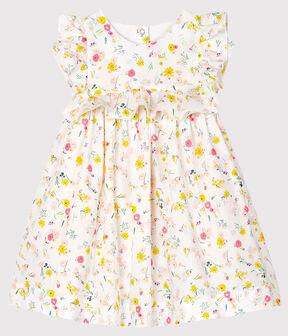 Baby Girls' Printed Short-Sleeved Dress Marshmallow white / Multico white