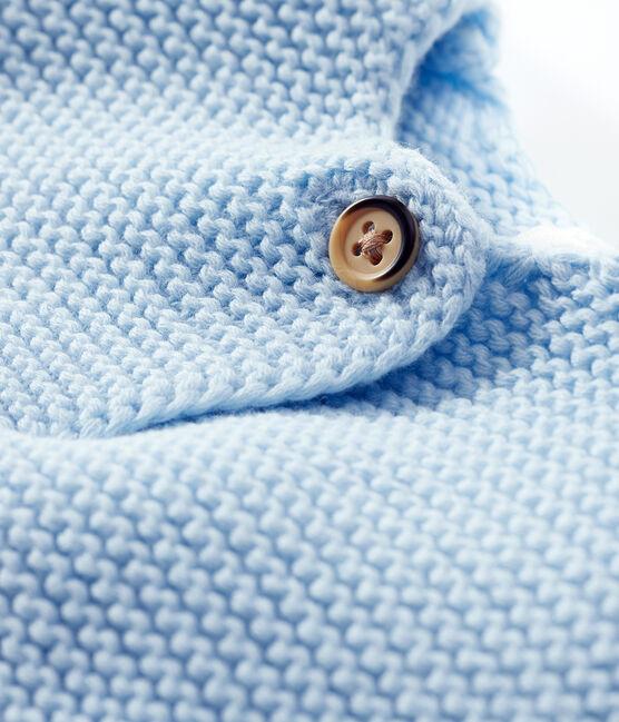 Babies' Organic Cotton Knit Cardigan Toudou blue