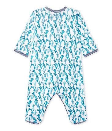 Baby boy's cactus-print sleepsuit