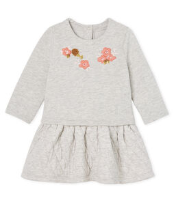 Baby Girls' Long-Sleeved Dual Material Dress