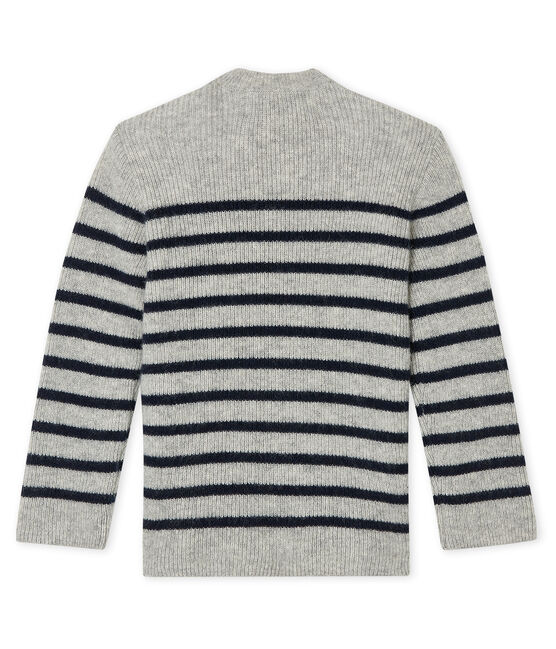 Baby Boys' Cashmere Pullover Beluga grey / Smoking blue