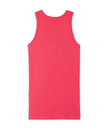 Women's vest top in heritage rib Geisha pink