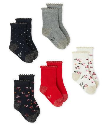 Baby Girls' Socks - 5-Piece Set