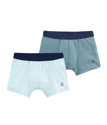 Boys' Stretch Cotton/Linen Boxer Shorts - Set of 2