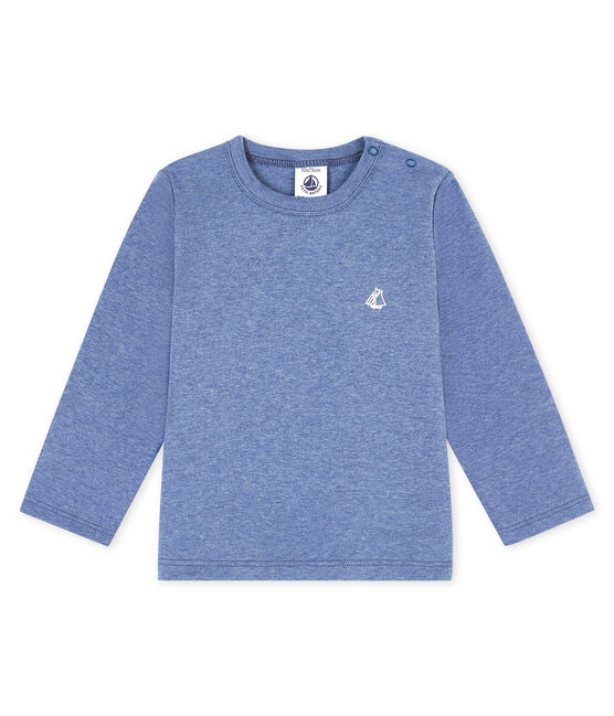 Unisex Baby's long-sleeved T-Shirt Captain Chine blue
