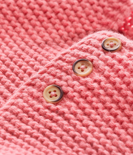 unisex baby's garter stitch cardigan CHEEK