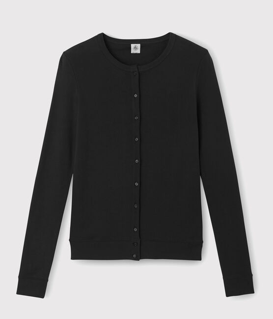 Women's iconic cardigan Noir black