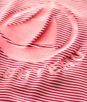 Baby girl's/boy's eco-friendly full body swimsuit Geisha pink / Marshmallow white