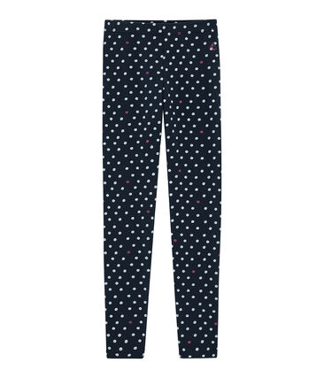 Girls' Leggings Smoking blue / Multico white