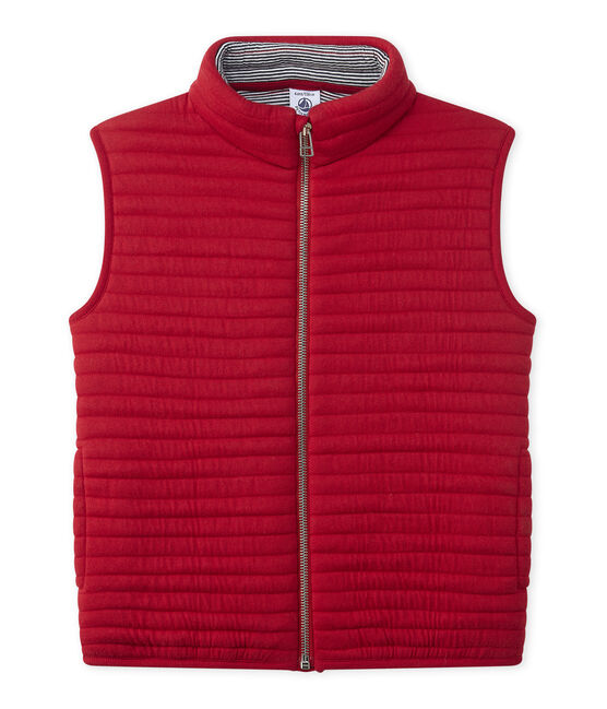 Sleeveless jacket Mars red
