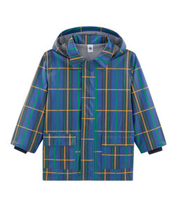 Unisex Waxed Children's Checked Coat