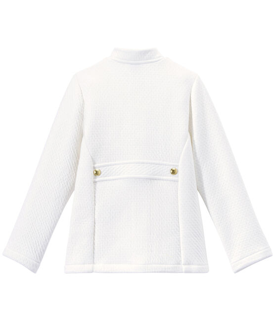 Girl's quilted double knit coat Marshmallow white