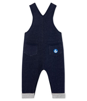 Baby Boys' Long Fleece Dungarees Smoking blue